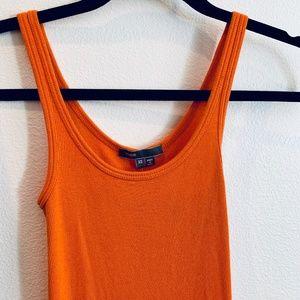 Vince Orange Cotton Tank Top - XS